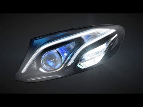 mercedes s class headlights multibeam led headls in the new e class youtube