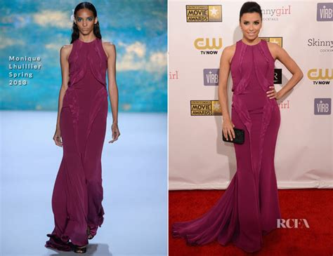 Runway To Carpet Longoria In Lhuillier At El Cantante Premiere La by Longoria In Lhuillier 2013 Critics Choice