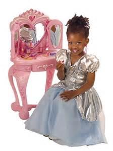 disney princess vanity table with stool pretend play toys