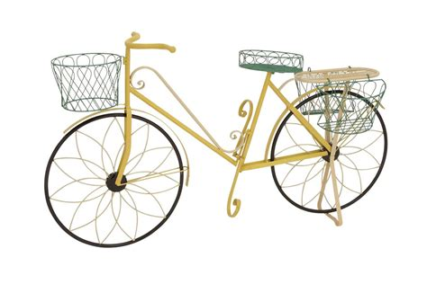 Iron Bicycle Planter by Updated Traditional Iron Standing Bicycle Planter By Uma