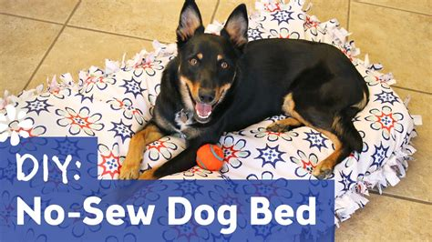 diy dog r for bed diy no sew dog pet bed sea lemon youtube