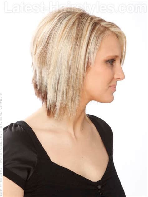 pics of razored thinned hair razored ends bob long hairstyles