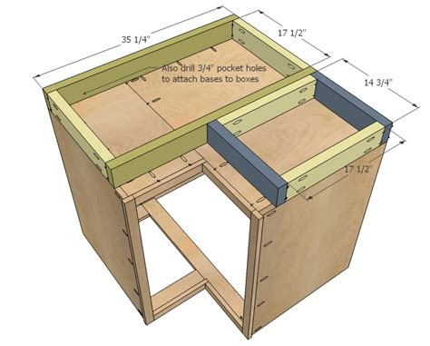 kitchen base cabinet plans build corner kitchen cabinet plans 187 woodworktips