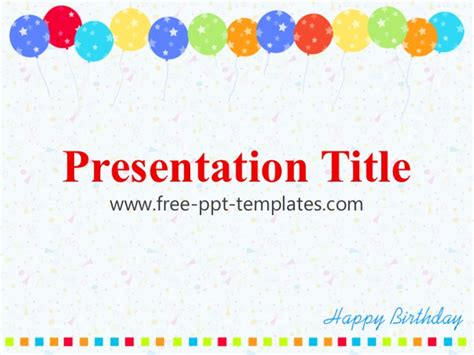 Birthday Ppt Template Powerpoint Birthday Template