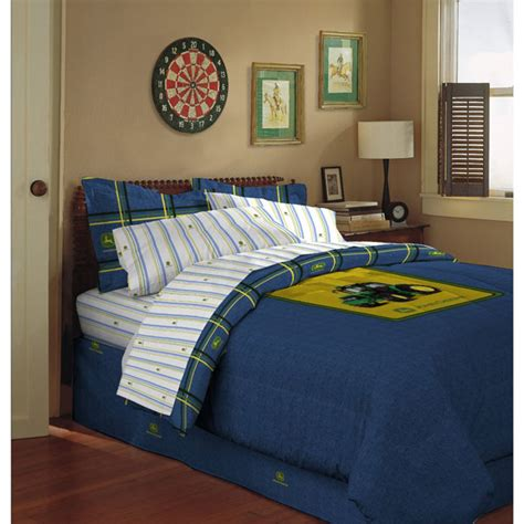 john deere bedding john deere blue denim bed skirt dust ruffle lp32186