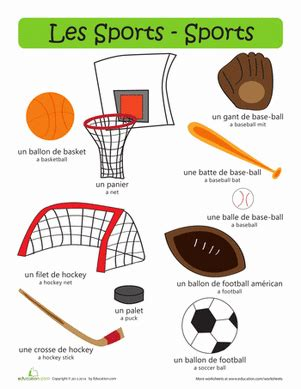 french sports common worksheets 187 french work sheet preschool and