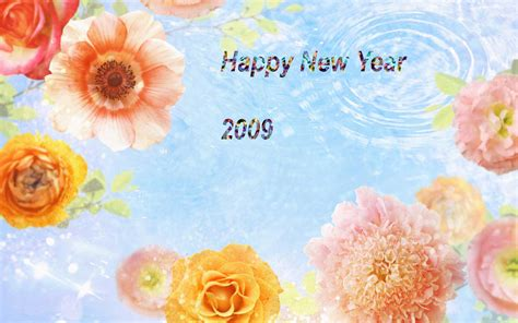 happy new year flower cosmos flower wallpaper 7654