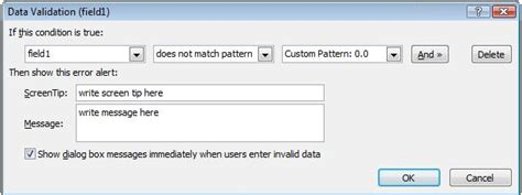 infopath custom pattern data validation need help with infopath number type sharepoint stack