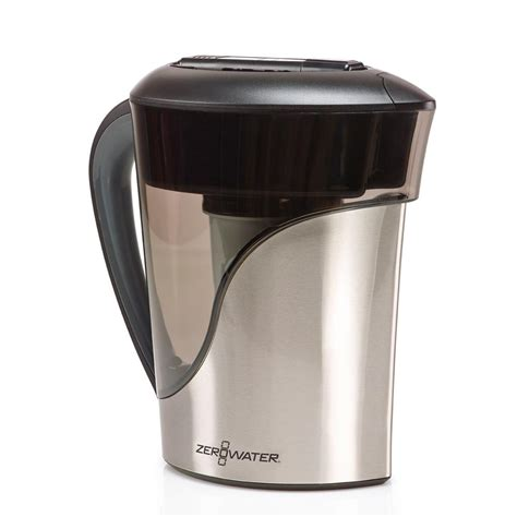 zero water pitcher zero water 8 cup stainless steel pitcher zs 008 the home depot