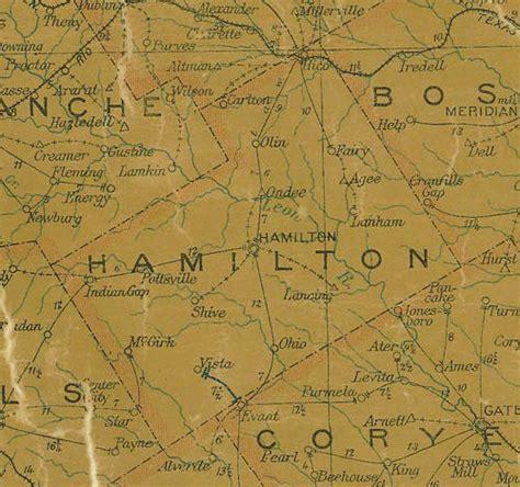 hamilton texas map hamilton county texas