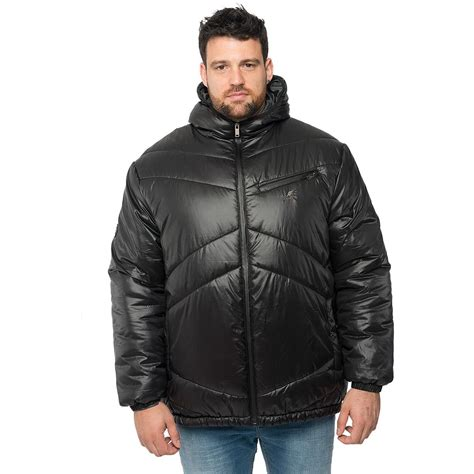 large coats kangol mens plus size zip up puffer jacket hooded quilted winter big coat ebay