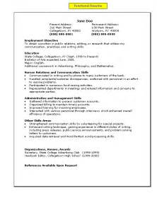 Functional Resume Exles For Students by A Functional Resume My Easy A S To Z S