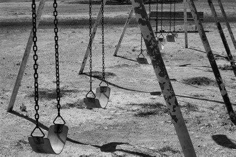 white swing set black and white swing set stock photo image of kids
