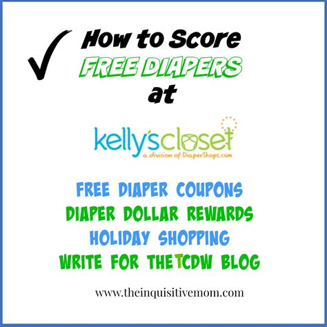 Kellys Closet Coupon by How To Score Free Diapers At S Closet The