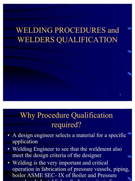 Asme Welding Code Section 9 by Wps Pqr