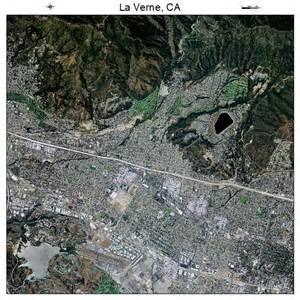 aerial photography map of la verne ca california