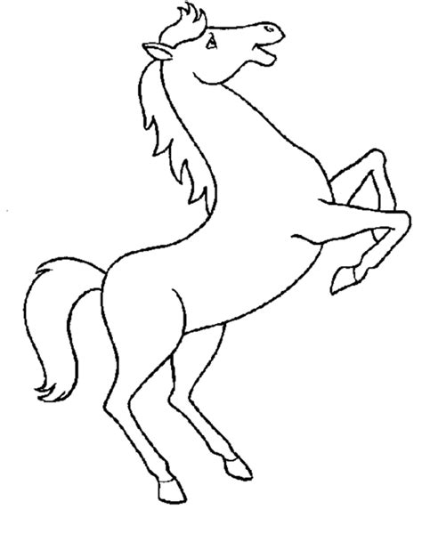 simple horse coloring page printable coloring pages