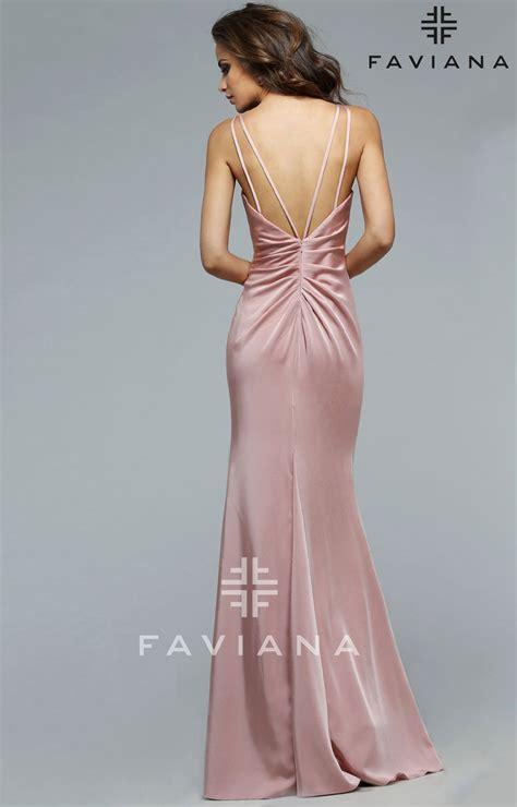 faviana  dusty rose dress prom dress