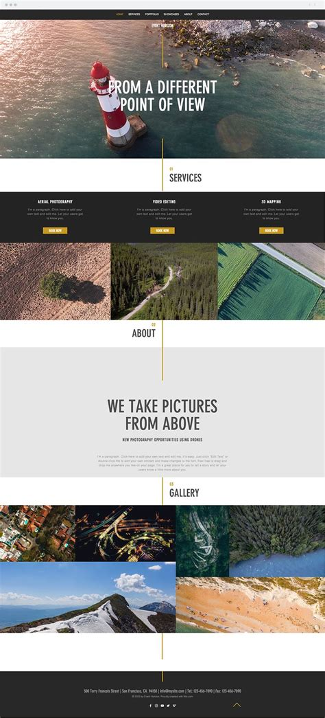 Aerial Photography Website Templates 680 Best Wix Website Templates Images On Pinterest