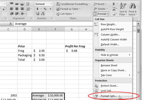 Excel 2007 Html Format | excel 2007 in pictures format cells