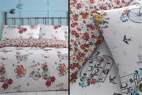 Bicycle Bedding Sets Bird On A Bike Bicycle Duvet Set Cyclemiles
