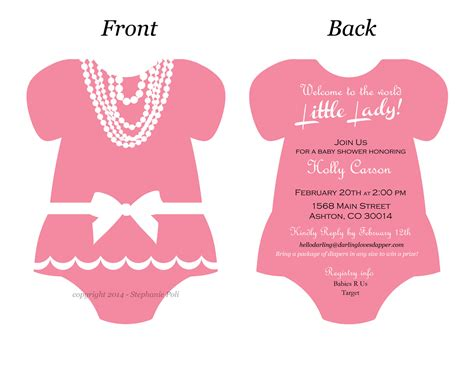 templates for onesies invitations onesie baby shower invitation gangcraft net
