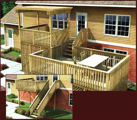 split level deck plans 1000 ideas about two level deck on pinterest decks