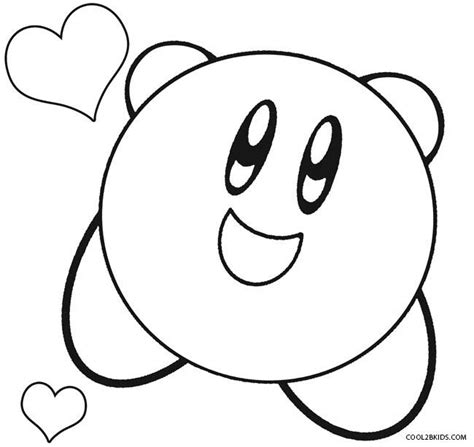 kirby mario coloring pages printable kirby coloring pages for kids cool2bkids