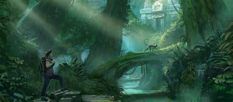 jungle environment paintings  concept art inspiration