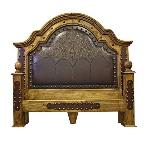 rustic alamo iron accent bedroom set western king grand tooled leather bedroom set with iron accents real