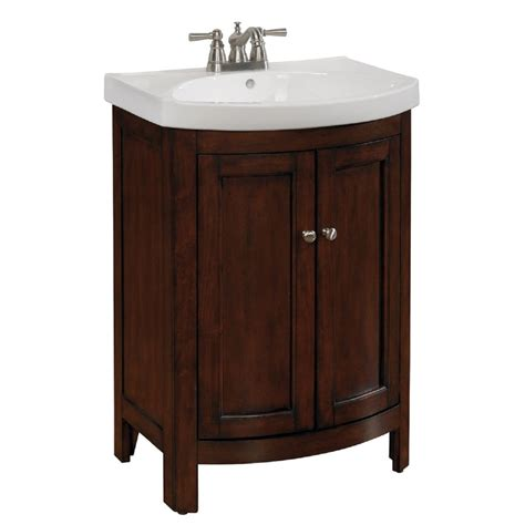 Vanities For Bathrooms Lowes Allen Roth Moravia Integral Bathroom Vanity With Vitreous China Top 24 In X 18 In Lowe S Canada