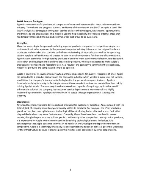 Watchmen Essay by Swot Analysis For Apple