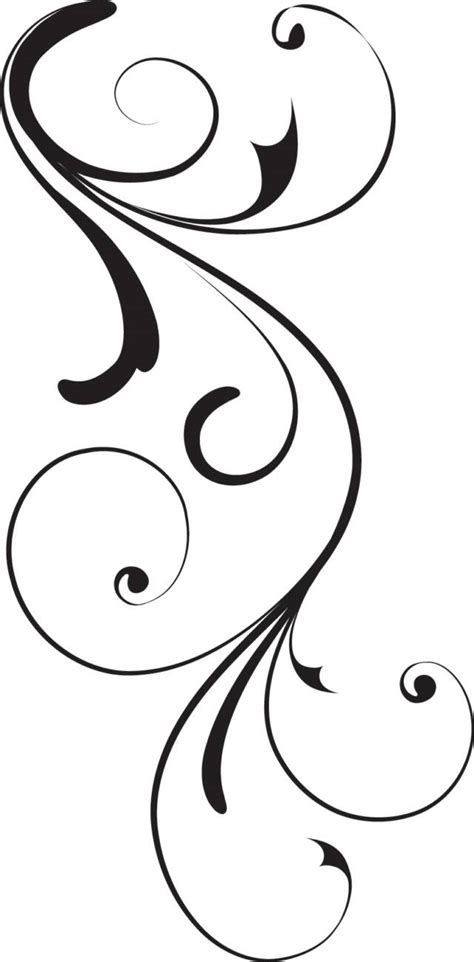 swirly tattoo designs black swirl op x free images at clker vector clip