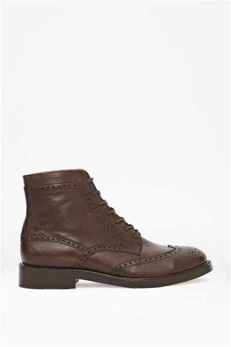 nick lace up leather ankle boots shoes