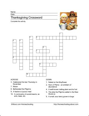 printable puzzles thanksgiving 10 superfun thanksgiving crossword puzzles kitty baby love