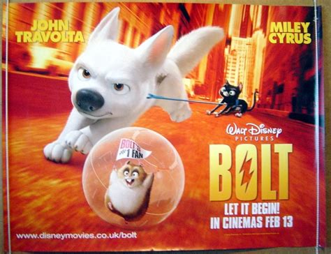Bolt 2008 Full Movie Bolt Original Cinema Movie Poster From Pastposters Com British Quad Posters And Us 1 Sheet Posters