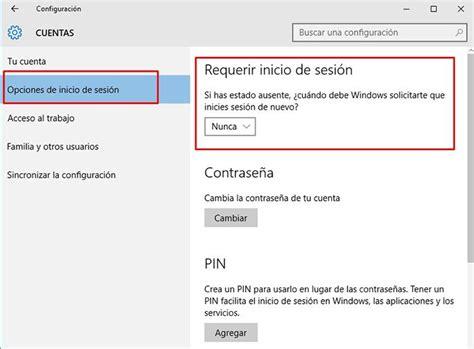 quitar imagenes cuenta windows 10 c 243 mo quitar la contrase 241 a de inicio de windows 10