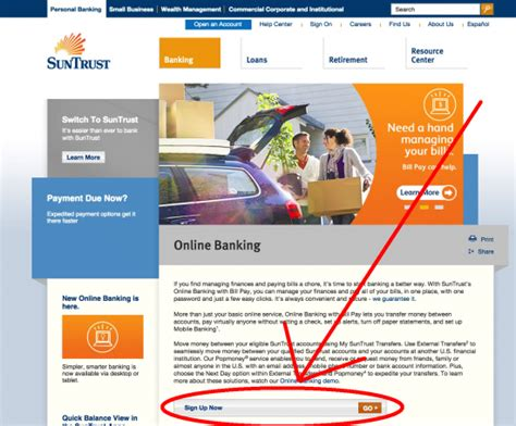 suntrust bank banking sign up suntrust banking bank