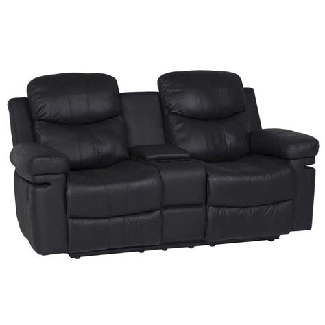 two seater recliner chairs rio top leather upper 2 seater recliner with console