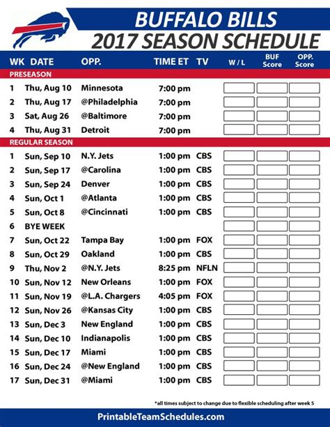 printable nfl schedule regular season 2017 39 best nfl football schedule 2017 images on pinterest