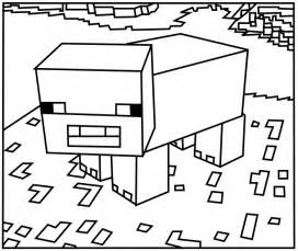 printable minecraft coloring pages printable minecraft pig coloring pages coloring