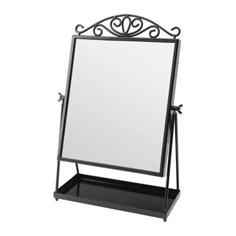 black table top mirror mirrors free standing mirrors ikea