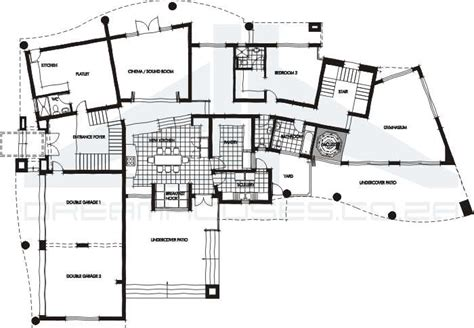modern floor plan contemporary house plans