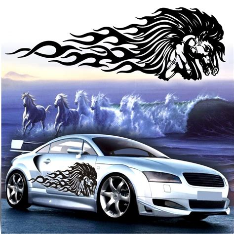 Car Sticker Tuning by Fiamme Adesive Adesivi Fiamme Auto Tuning Pegasus