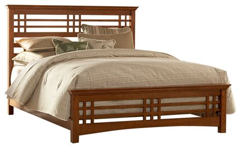 mission style bed frame avery mission style bed with wood frame oak