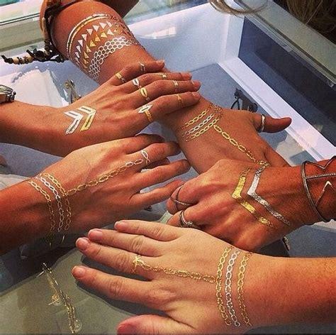 tattoo hand flash rouelle elletatts metallic tattoos flash tattoos gold