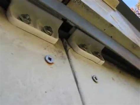 Aluminum Shed Door Parts by Metal Garden Shed Door Slide Repair