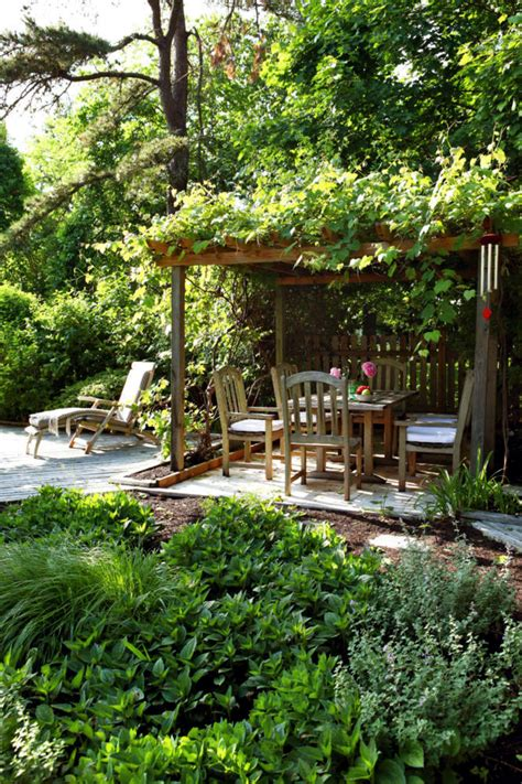 natural garden   covered sitting area interior
