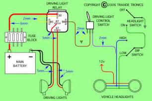 Car Lighting Circuit Diagram Im Adding Spot Lights To My Triton Glx R 06 Model And Need