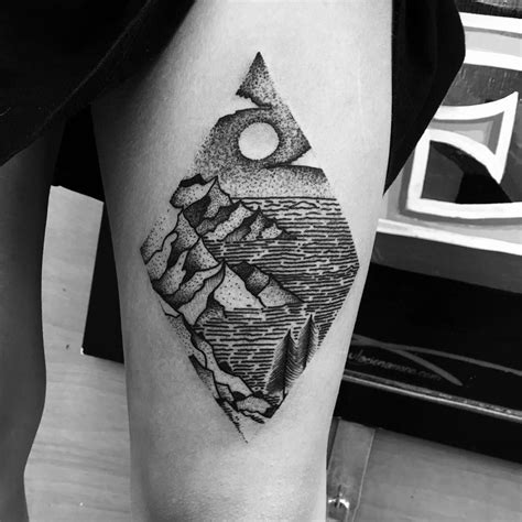 landscape tattoo 27 awesome picturesque landscape designs